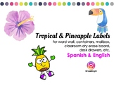 Labels - English - Spanish - Pineapple - Tropical