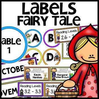 FAIRY TALE THEMED Labels