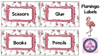 Labels Flamingo Theme