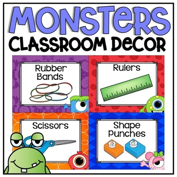 Classroom Supply Labels {Monsters Classroom Decor Theme}