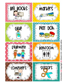 Labels For The Whole Classroom Including Book Bin Labels