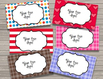 Labels - Frames {EDITABLE} Year Round - Monthly - Organization