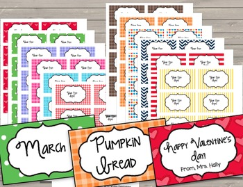 Labels - Frames EDITABLE Year Round - Monthly - Organization