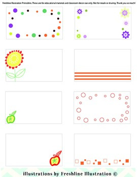 Labels - Fresh Labels for Classroom Use - Apples, Flowers, Dots and more