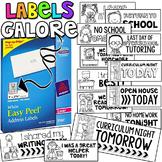 Labels Galore! {A Bilingual Bundle of Labels}