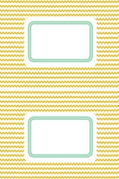 Labels: Gold & Green Chevron and Crisscross