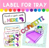 Labels - Hand in your work - Colour me Confetti