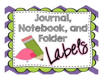 Labels- Journal, Notebook, and Folder