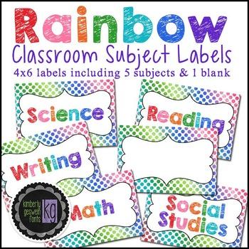 Labels: KG Rainbow Labels