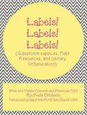 Labels! Labels! Labels! {Chevron and Moroccan Tile}
