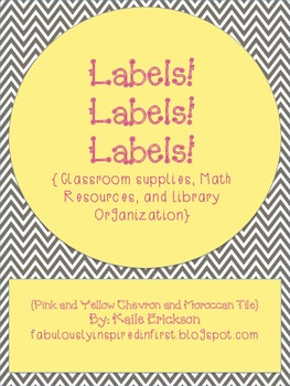 Labels! Labels! Labels! {Chevron and Moroccan Tile}