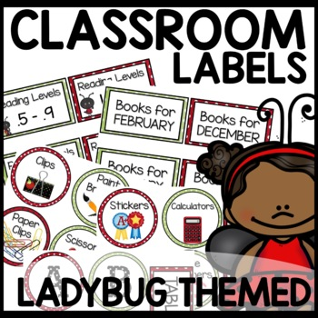 Labels (Lady Bug Themed)