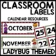 Labels (Ladybug Themed)