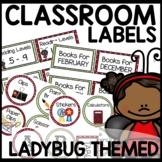 Ladybug Theme Classroom Decor Labels