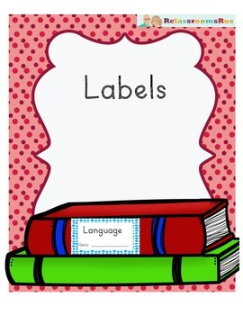 Labels - Language, Reading, Writing, Spelling, Daily 5