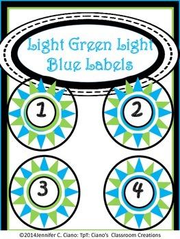 Labels: Light Green and Light Blue Stars