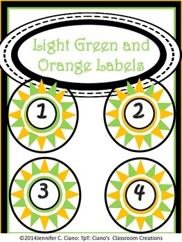 Labels: Light Green and Orange Stars