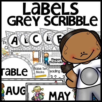 Labels MX AND MATCH (GRAY Polka Dot Scribble)