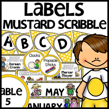 Labels MX AND MATCH (MUSTARD Polka Dot Scribble)