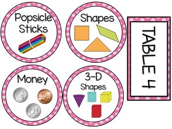 Labels MX AND MATCH (PINK Polka Dot Scribble)