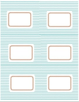 Labels: Maroon & Teal Chevron and Crisscross