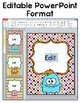 Monster Theme Labels and Templates for Classroom Jobs, Binders, Supplies etc