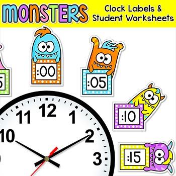 Monsters Clock Labels