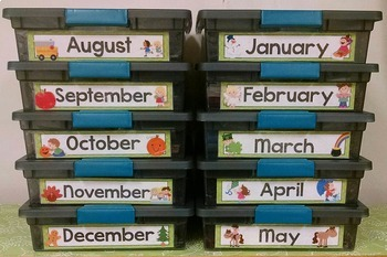 Labels- Monthly- Green