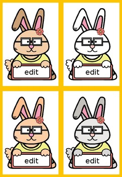 Labels - Name Tags, Desk Tags: Clever Bunny