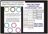 Labels/Name Tags & Templates for Classroom- Editable