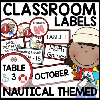 Labels (Nautical Themed)