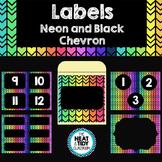 Labels {Neon and Black Chevron}