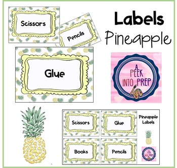 Labels Pineapple Theme