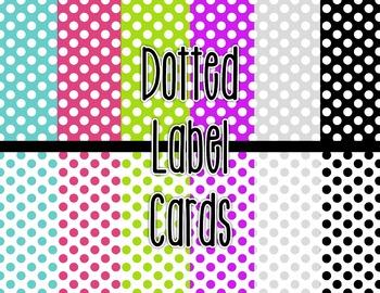 Labels - Polka Dots, Classroom Decor, Simple, Bright Colors!