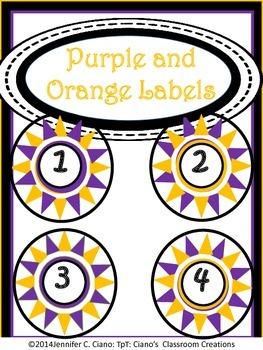 Labels: Purple and Orange Stars