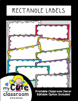 Labels - Rectangle {Editable Classroom Decor}