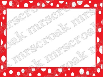Labels: Red & White polka dots, 10 per page
