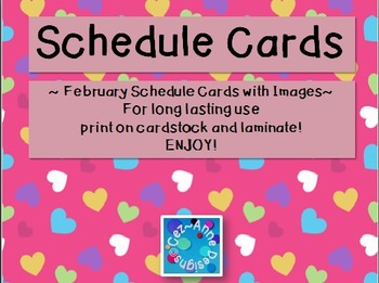 Labels - Schedule Cards ~ February Theme with Images