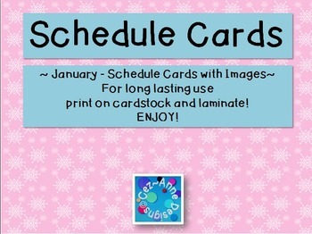 Labels - Schedule Cards ~ January Theme with Images