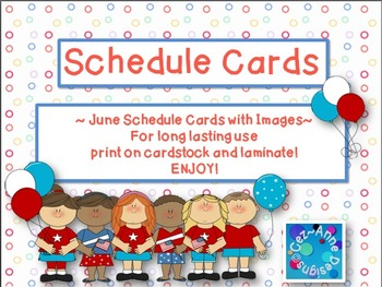 Labels - Schedule Cards ~ June Theme with Images