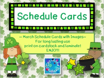 Labels - Schedule Cards ~ March Theme with Images