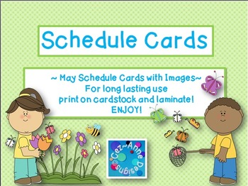 Labels - Schedule Cards ~ May Theme with Images
