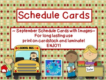 Labels - Schedule Cards ~ September Theme with Images