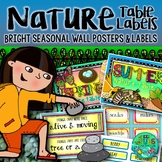 Labels & Seasonal Posters for your Nature Table {bright and colorful}