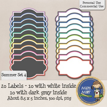 Labels Set 1 - Summer 4