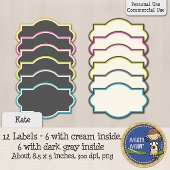 Labels Set 1 - Kate