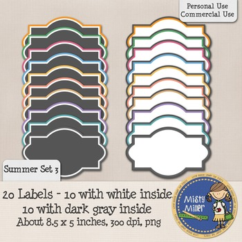 Labels Set 1 - Summer 3