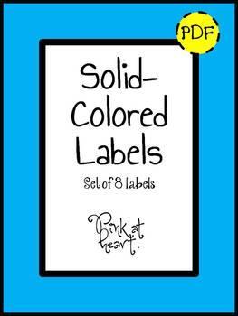 Labels - Solid Colors