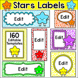 Stars Theme Labels for Classroom Jobs, Supply Bins, Poster