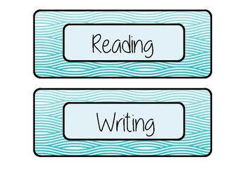 Labels- Subject Labels for Tubs, Desks, Books and more